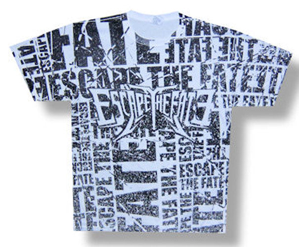 Escape the Fate Choose Your Fate all over front print t-shirt