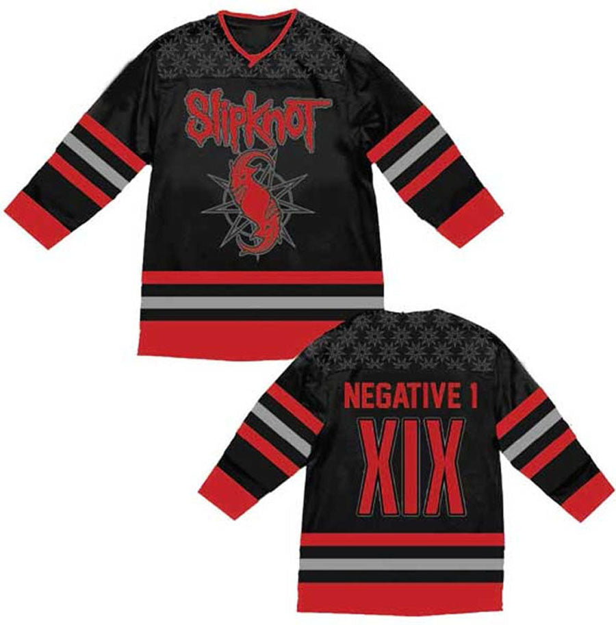 Slipnot- Goat Star-Embroidered- Authentic Hockey Jersey