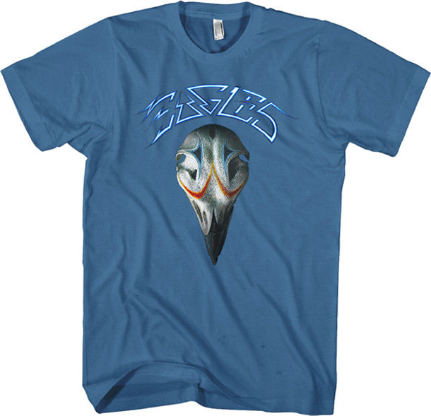 The Eagles Greatest Hits Distressed print on Slate Blue t-shirt