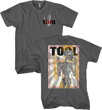 Tool Spectre Burst Skeleton Charcoal t-shirt