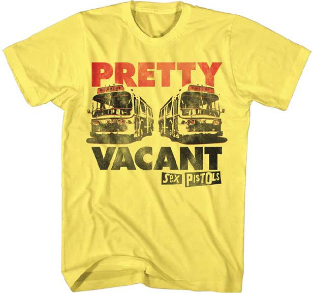 Sex Pistols Pretty Vacant on Yellow t-shirt
