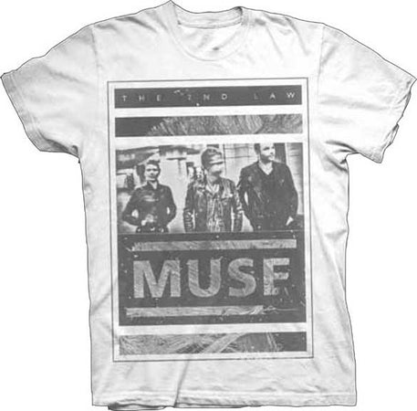 Muse Photo Block White  t-shirt