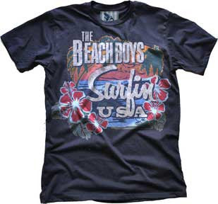 The Beach Boys Surfin USA Tropical Black t-shirt