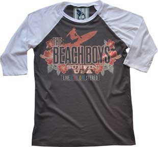 The Beach Boys - Live Color - Raglan Baseball Jersey t-shirt