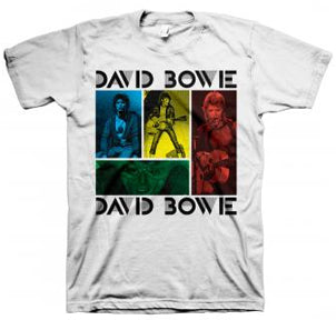 David Bowie - Ziggy Squares - White t-shirt