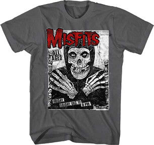 The Misfits All Ages Skeleton Charcoal t-shirt