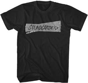 Soundgarden Duct Tape Logo Black  t-shirt