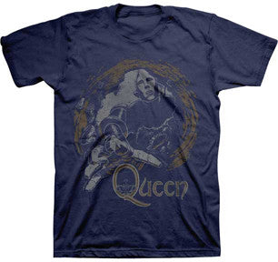 Queen News Of The World Navy Blue t-shirt