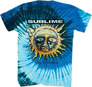 Sublime-40 oz to Freedom-Blue Tie Dye t-shirt