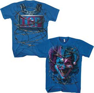 Insane Clown Posse ICP Barbed Jester Royal Blue t-shirt