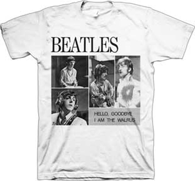 The Beatles - 4 Blocks-Hello Goodbye - White t-shirt