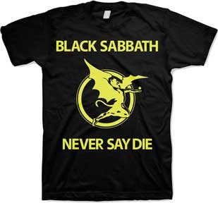 Black Sabbath Never Say Die Black t-shirt