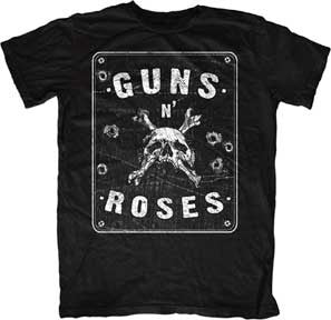 Guns N Roses Street Sign-Black t-shirt