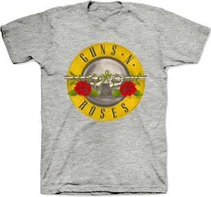 Guns N Roses Bullet Heather Grey t-shirt
