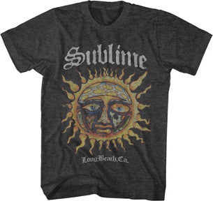 Sublime Logo Stamp Sun Charcoal Heather Lightweight t-shirt
