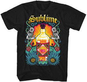 Sublime Sun Bottle Black Lightweight t-shirt
