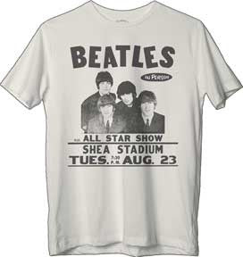 The Beatles Shea Stadium White t-shirt