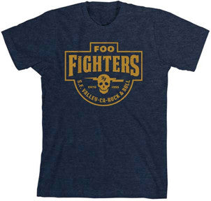 Foo Fighters SF Valley Heather Navy Lightweight t-shirt