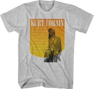 Nirvana Kurt Cobain Just Happy Heather Gray  t-shirt