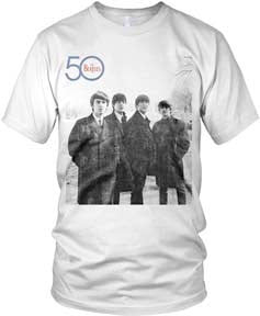 The Beatles 50th Side Logo White t-shirt