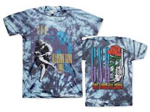 Guns N Roses 1991 Tour Illusion Tie Dye t-shirt