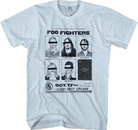 Foo Fighters - Cubby Bear Chicago - Light Blue Lightweight t-shirt