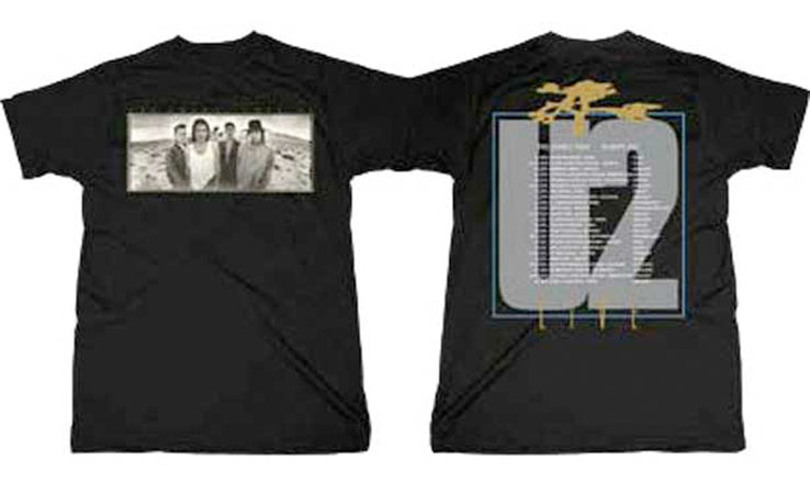 U2 - Joshua Tree - Black t-shirt