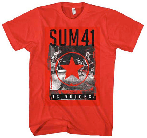 Sum 41 Red Star 13 Voices Red T-shirt