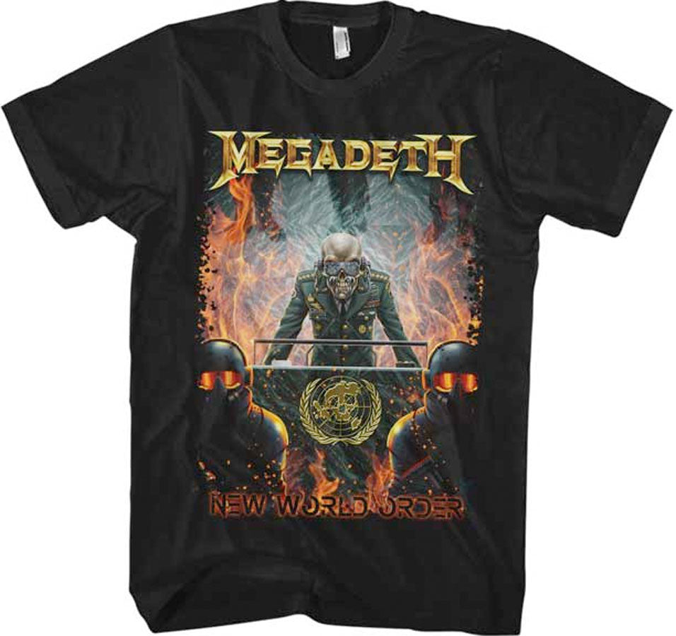 Megadeth-New World Order-Black t-shirt