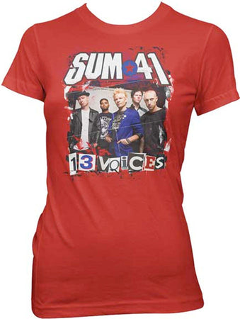 Sum 41 Ransom Letters Photo Red T-shirt