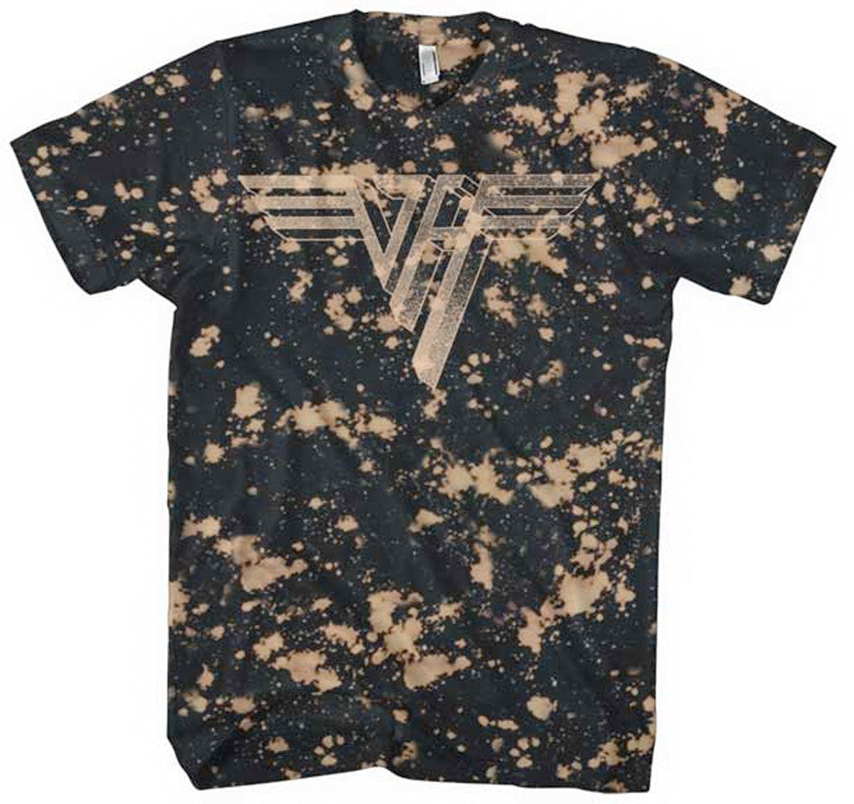 Van Halen-Classic Logo-Bleach Treated t-shirt