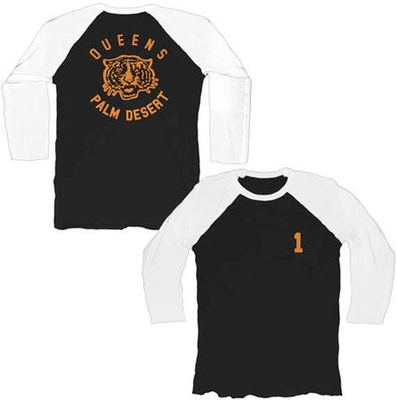 Queens of the Stone Age-Palm Desert Tiger Raglan Baseball Jersey t-shirt