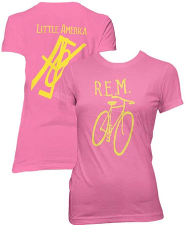REM-Little America Bicycle-Girl's Junior Berry t-shirt