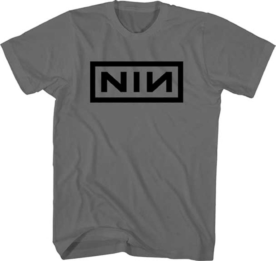 Nine Inch Nails - Classic Black Logo - Charcoal t-shirt