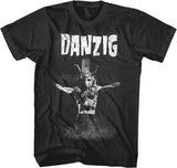 Danzig - Skullman On Cross - Black t-shirt