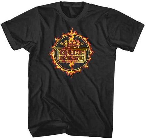 Outkast - Fire Ring - Black T-shirt