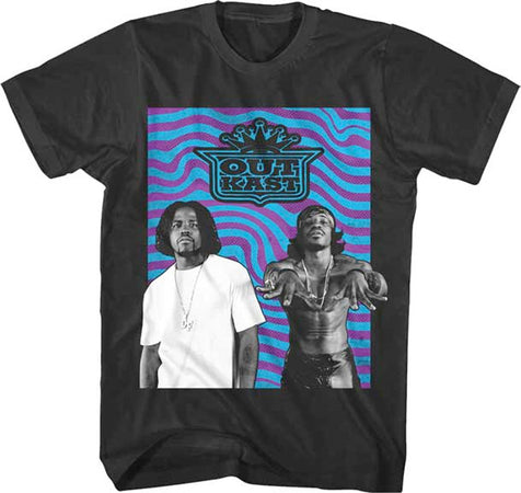 Outkast - Wavy Photo - Black T-shirt