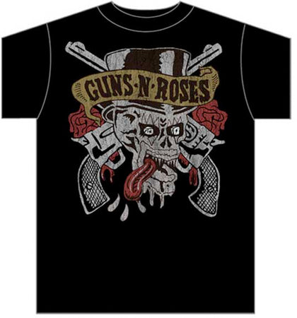 Guns N Roses - Tongue Skull - Black t-shirt