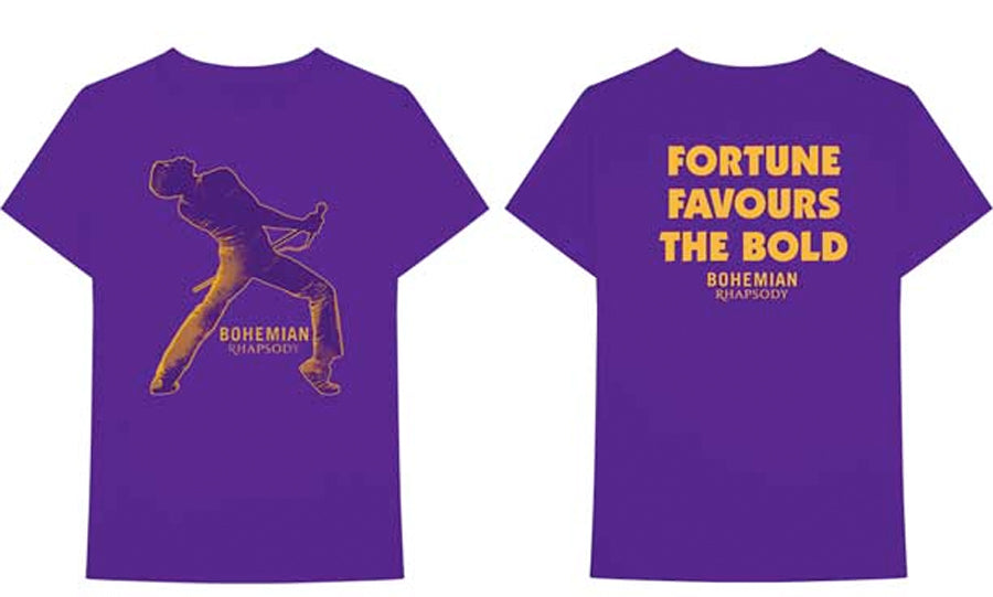 Queen - Bohemian Rhapsody-Fortune-Purple t-shirt