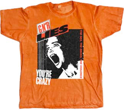 Guns N Roses - You're Crazy - Orange t-shirt