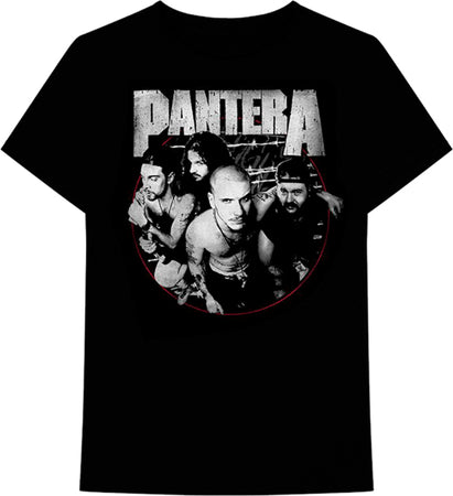 Pantera - Distressed Circle -  Black t-shirt