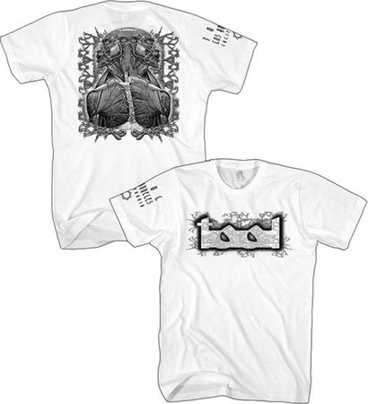 Tool - Grey Tool Man - White  t-shirt