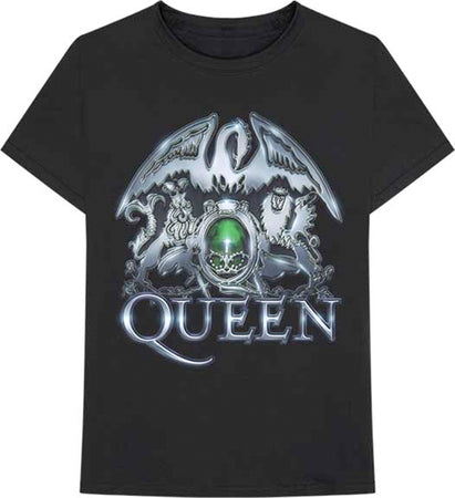 Queen - Metal Crest - Black t-shirt