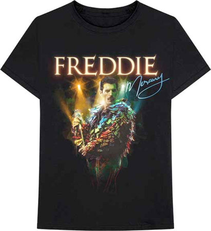 Queen - Freddie Mercury-Feathers - Black t-shirt