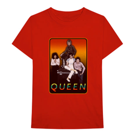 Queen - Retro Frame-Red t-shirt