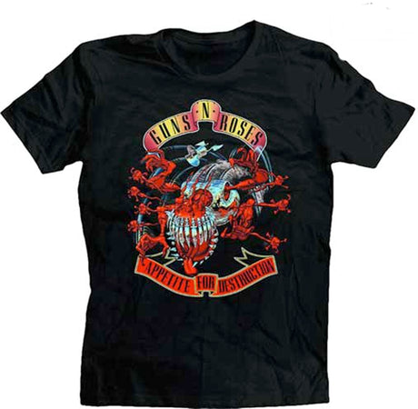 Guns N Roses - Avenger Banner- Appetite for Destruction - Black t-shirt