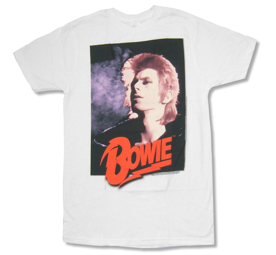 David Bowie - Ziggy Has Red Hair-Old School Photo - White t-shirt