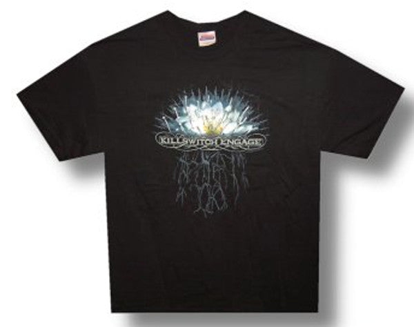 Killswitch Engage Flower Roots  Black t-shirt