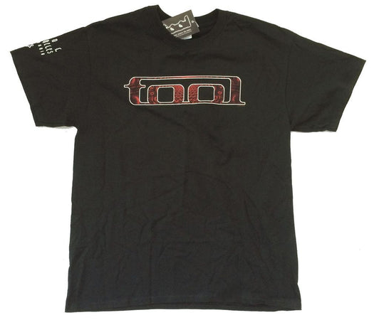 Tool Red Pattern - Black t-shirt