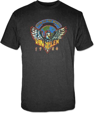 Van Halen - 1984 Tour - Black t-shirt